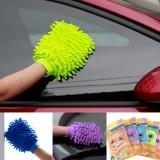 双面彩袋装 雪尼尔擦车布洗车手套清洁巾百洁布抹布