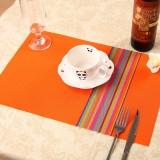 PVC餐垫 隔热垫 七彩竖条纹 橙色 300个/箱