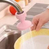 厨房水龙头防溅花洒嘴节水器 自来水节水阀过滤器省水器 粉色