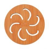 创意镂空木质杯垫厨房加厚防烫隔热碗垫餐垫 小号圆形风火轮