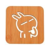 创意镂空木质杯垫厨房加厚防烫隔热碗垫餐垫 小号小兔子 700个/箱