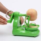 苹果削皮器 手动水果削皮机 苹果托盘绿色