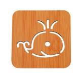 创意镂空木质杯垫厨房加厚防烫隔热碗垫餐垫 小号鲸鱼
