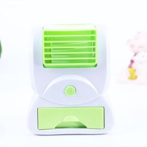 新款USB电池两用空调香味风扇-绿色
