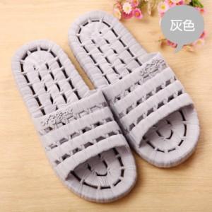 夏季镂空底塑料拖鞋 情侣浴室漏水凉拖洗澡拖鞋 灰色 60个/箱