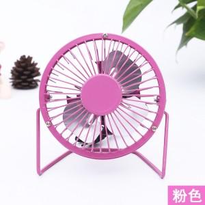 360度旋转4寸铁艺风扇 迷你风扇 usb迷你小风扇电风扇 粉色 60个/箱