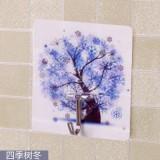 厨房浴室魔力贴无痕免钉挂钩 创意可爱卡通强力粘钩 四季树冬   250个一盒  1000个一箱