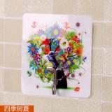 厨房浴室魔力贴无痕免钉挂钩 创意可爱卡通强力粘钩 四季树夏   250个一盒  1000个一箱