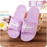 夏季鱼骨情侣男女家居拖鞋 浴室洗澡防滑凉拖鞋 紫色 80双/箱