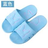 夏天浴室凉拖鞋防滑兔子情侣塑料软底家居鞋 天蓝色 80双/箱