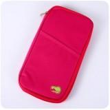 法蒂希Travelus 旅行随身多功能手拿收纳袋 卡包 钱包 玫红色