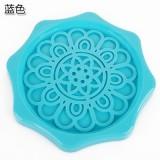 花边沥水杯水壶垫 防漏水防污垢暖壶垫 开水瓶隔热垫 蓝色