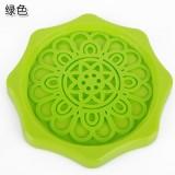 花边沥水杯水壶垫 防漏水防污垢暖壶垫 开水瓶隔热垫 绿色