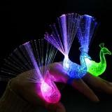 发光手指灯孔雀开屏光纤灯儿童礼物夜市货源创意玩具地摊