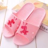 夏季小马情侣男女家居拖鞋 浴室洗澡防滑凉拖鞋 粉色