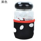 蘑菇杯随手杯创意便携玻璃杯迷你带盖带过滤茶杯 黑色 80个/箱