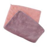 超细纤维双面吸水抹布 不掉毛不沾油洗碗巾 北欧紫粉 600条/箱