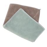 超细纤维双面吸水抹布 不掉毛不沾油洗碗巾 北欧绿咖 1000条/箱