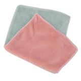 超细纤维双面吸水抹布 不掉毛不沾油洗碗巾 北欧粉绿 1000条/箱