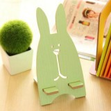 新款韩版越狱兔子木质手机支架 懒人手机架 浅绿色