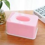 糖果色纸巾盒纯色纸巾抽塑料餐巾纸抽纸盒 粉色 96个/箱