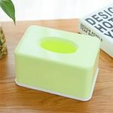 糖果色纸巾盒纯色纸巾抽塑料餐巾纸抽纸盒 绿色 96个/箱