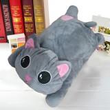 全新爆款 立体毛绒玩具爱心趴趴电热水袋-灰色猫