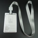 工作牌铝合金胸卡挂绳卡套公司员工证件挂牌 竖款