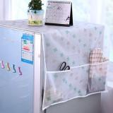 冰箱盖布防尘罩收纳袋透明印花防水盖巾挂袋 四叶草 200个/箱
