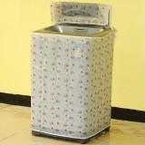 透明印花防水防晒全自动洗衣机防尘罩套子 a款玫瑰