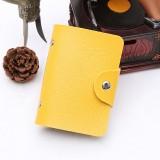 24卡位仿皮卡套纯色商务创意银行卡包卡夹 黄色 1200个/箱