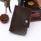 24卡位仿皮卡套纯色商务创意银行卡包卡夹 咖啡色 1200个/箱