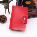 24卡位仿皮卡套纯色商务创意银行卡包卡夹 红色 1200个/箱