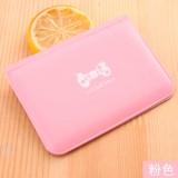 韩国12卡位蝴蝶结简约公交银行卡套小卡包卡夹 粉色 10个/砸 整砸卖