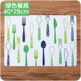 欧式防滑垫简约印花西餐垫PP塑料隔热碗垫防水垫子 餐具绿色 500个/箱
