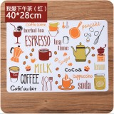 欧式防滑垫简约印花西餐垫PP塑料隔热碗垫防水垫子 下午茶红色 500个/箱
