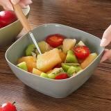 塑料水果盘厨房方形客厅水果盆干果盘沙拉碗 新北蓝