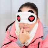 韩版卡通柔软熊猫眼罩 睡眠遮光眼罩 红心 200个/包 800个/箱