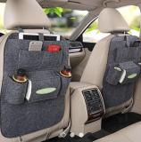 汽车毛毡椅背袋多功能车载储物袋座椅靠背收纳包