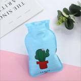 pvc热水袋小号充水暖水袋卡通可爱注水暖手宝 仙人掌
