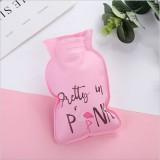 pvc热水袋小号充水暖水袋卡通可爱注水暖手宝 字母火烈鸟