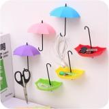 实惠装 可爱雨伞造型粘胶挂钩免钉无痕墙壁挂 混色 350个/箱