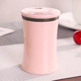 独立OPP袋 便携牙签盒欧式牙签罐 简约素色牙签筒桶 粉色 270个/箱