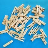 原木色木夹子 相片夹木质便签夹 相框夹 50个/包售 3.5cm