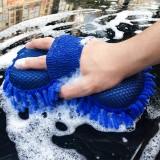 汽车洗车海绵高密度棉 珊瑚绒雪尼尔擦车巾