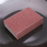 特惠款金刚砂神奇魔力海绵擦 除铁锈海绵 厚款棕色 500个/箱