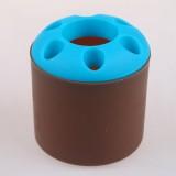 大号糖果色便携式创意牙刷架/笔筒/收纳筒-杯身咖啡色 200个/箱