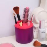 大号糖果色便携式创意牙刷架/笔筒/收纳筒-杯身紫色 200个/箱