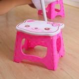 小猫便携式折叠板凳 加厚塑料卡通猫头椅子  粉色  60一件