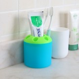大号糖果色便携式创意牙刷架/笔筒/收纳筒-杯身蓝色 200个/箱